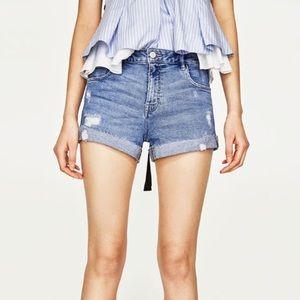 Zara High Waist Shorts NWOT